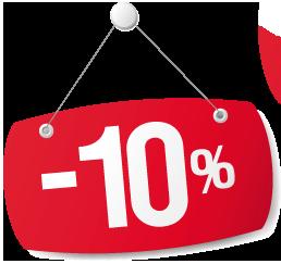 10% KEDVEZMÉNY!